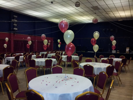 Decorative Balloons at the Marchon Club, Whitehaven, Cumbria