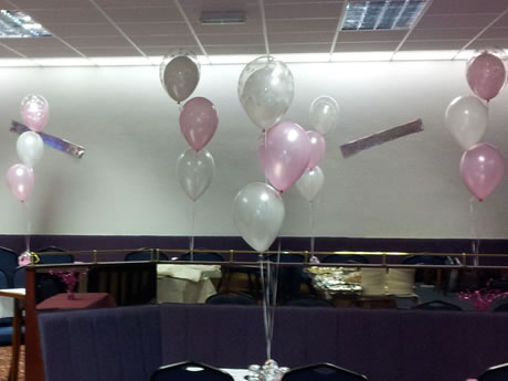 Decorative Balloons at Mirehouse Labour Social Club, Whitehaven, Cumbria